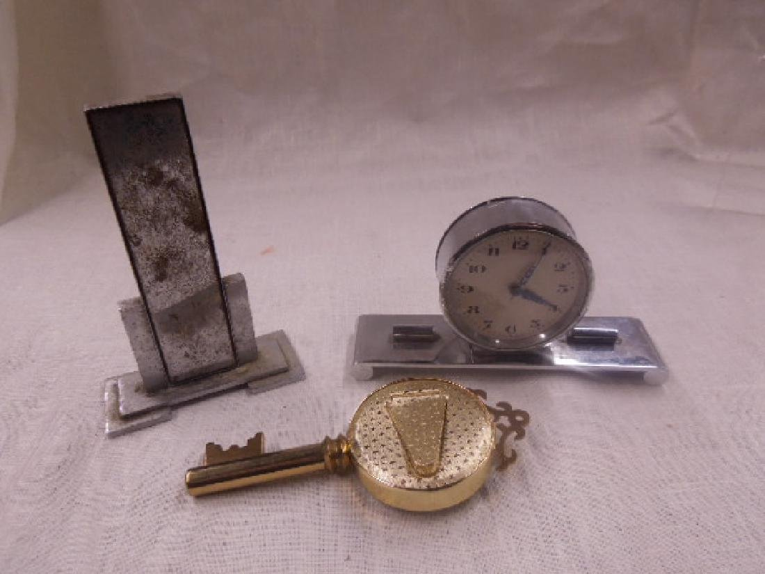 Vintage Thermometers & Desk Clock - 6