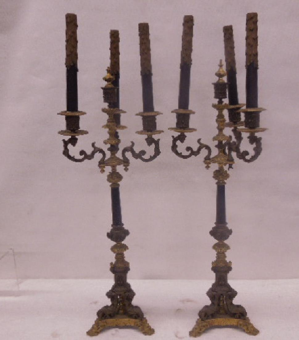 Continental Bronze 3-Light Candelabra