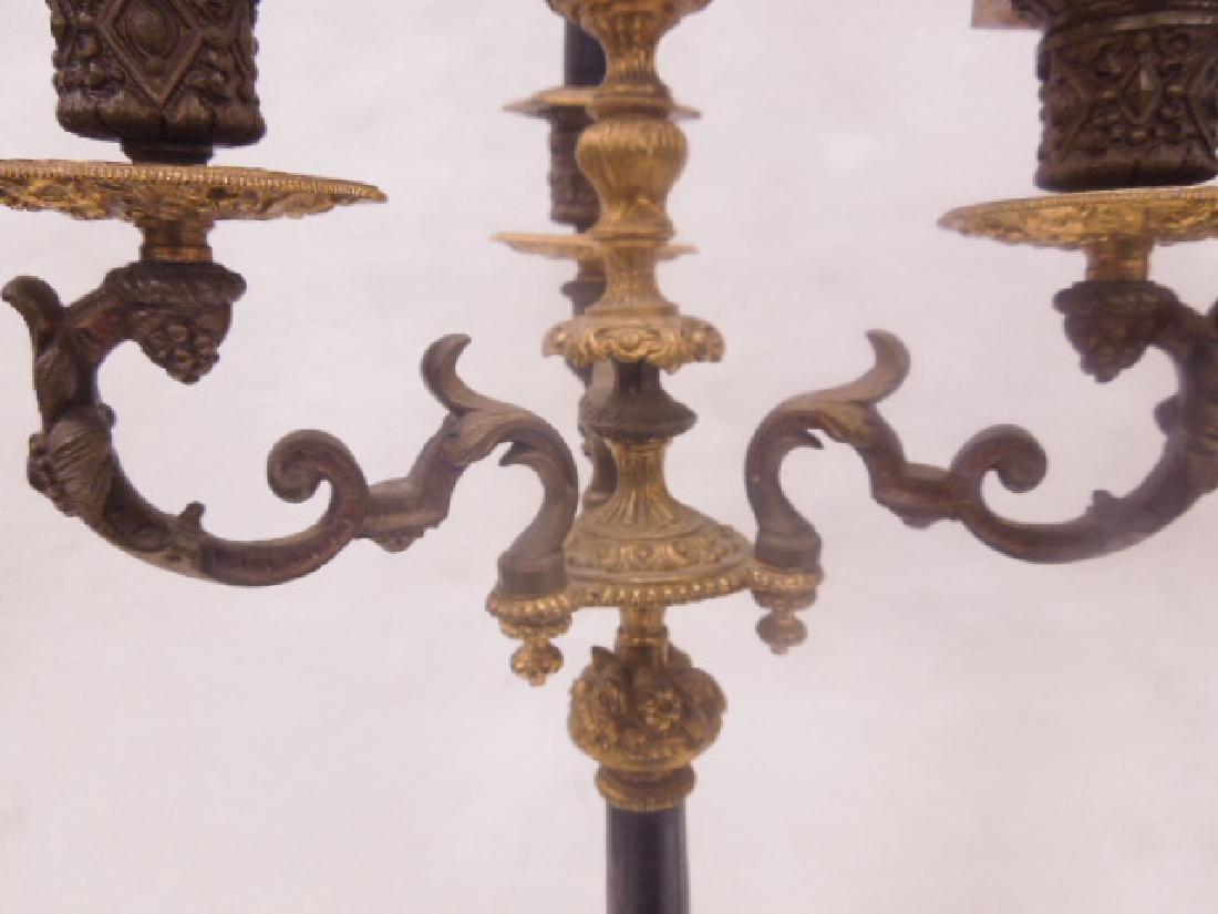 Continental Bronze 3-Light Candelabra - 7