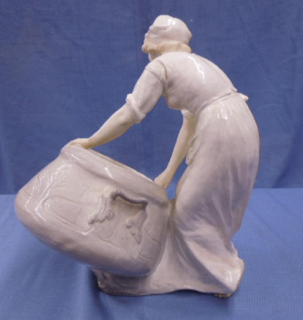 Friedrich Goldscheider Pottery Vase - 6