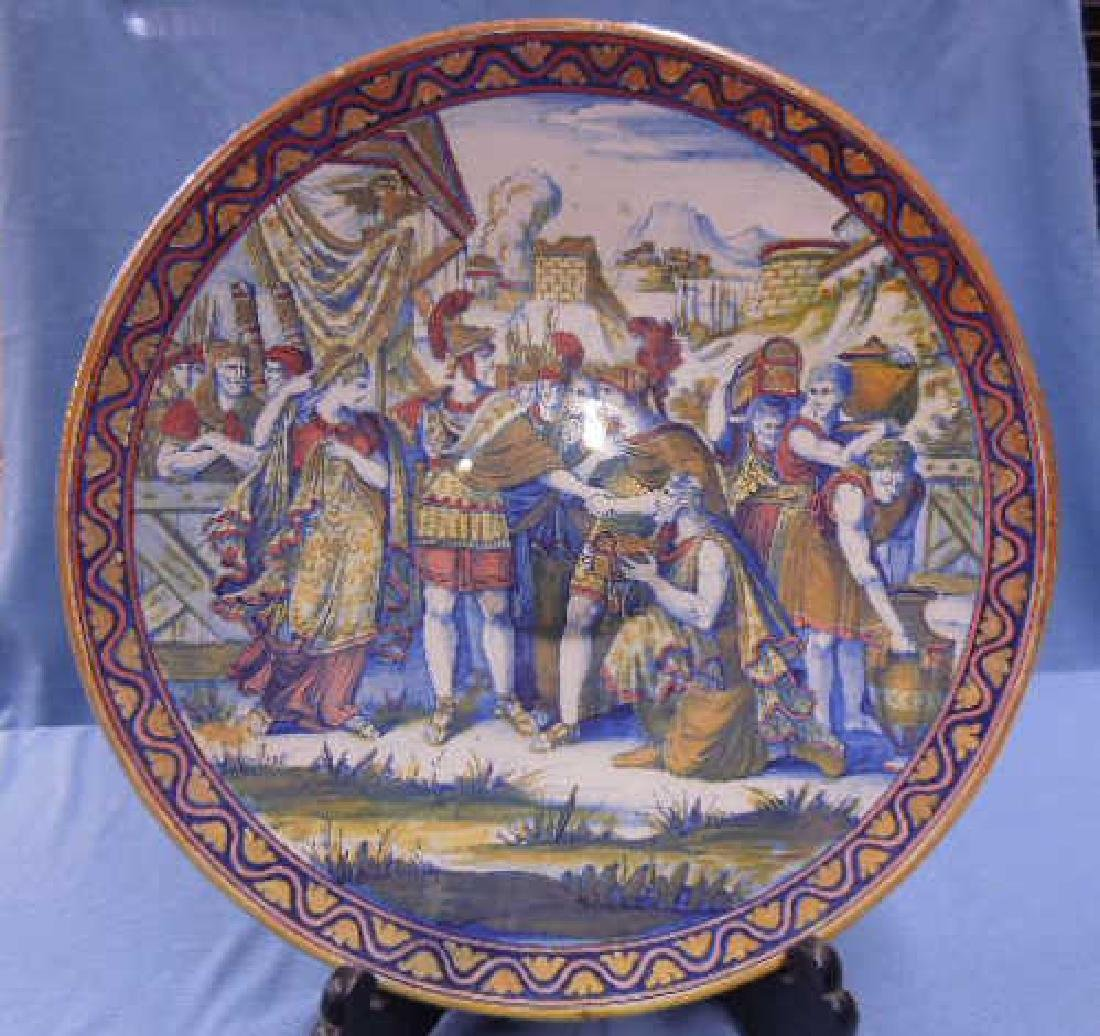 Italian Faience Pottery Charger