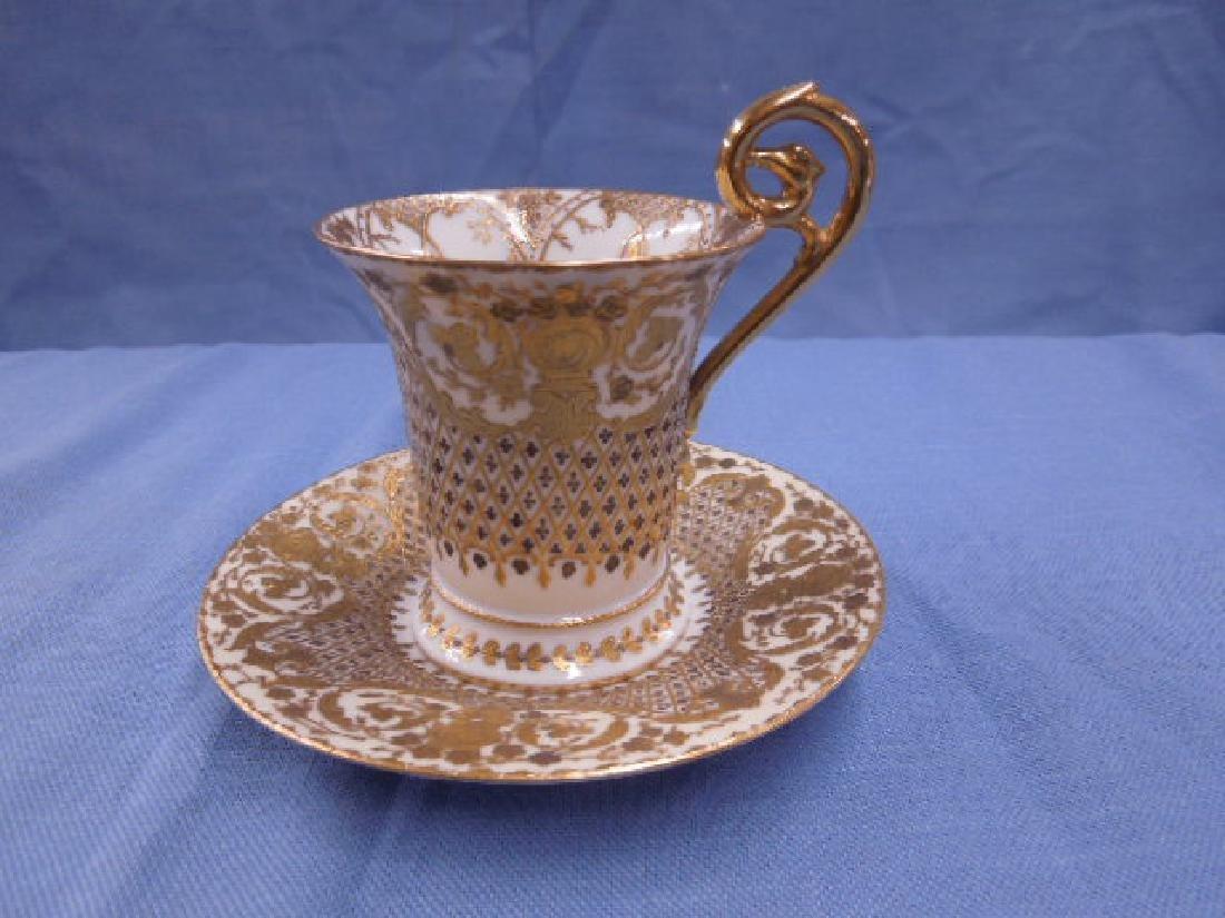 Dresden Porcelain Cabinet Cup & Saucer