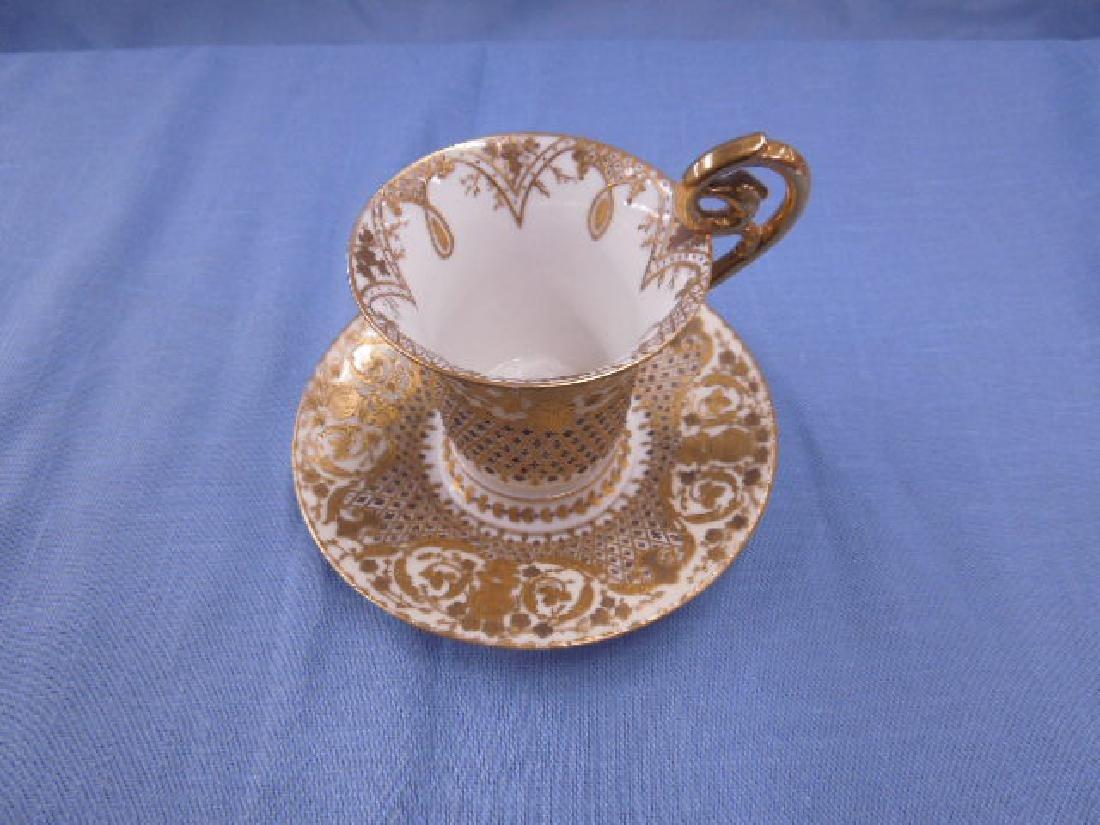 Dresden Porcelain Cabinet Cup & Saucer - 2