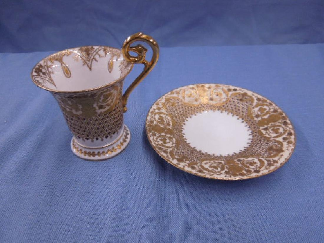 Dresden Porcelain Cabinet Cup & Saucer - 3