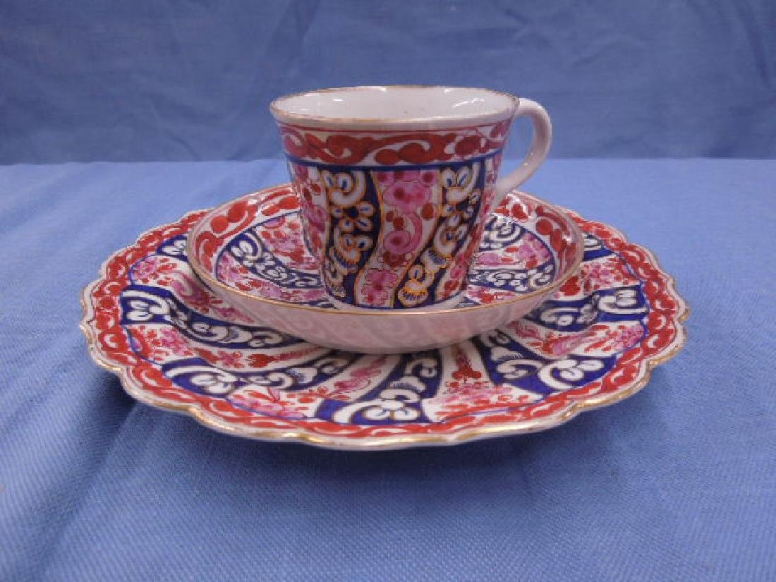 18th c. Caughley Cup, Saucer & Plate