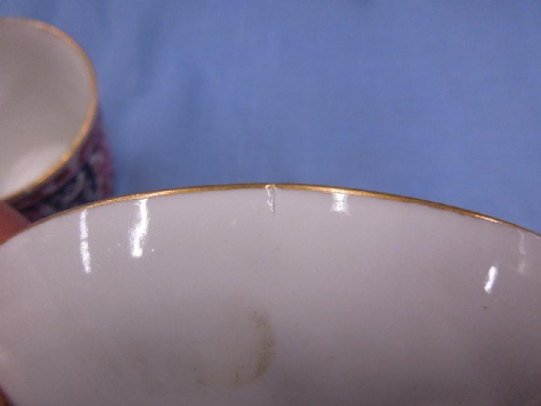 18th c. Caughley Cup, Saucer & Plate - 7