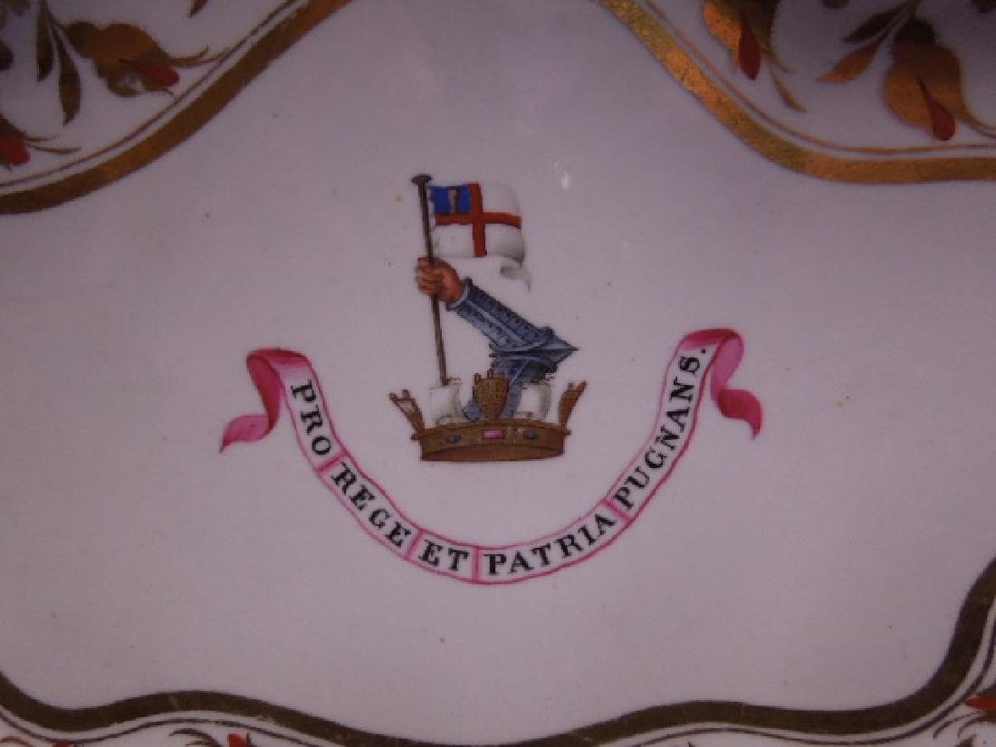 Chamberlains Worcester Porcelain Armorial Dish - 2
