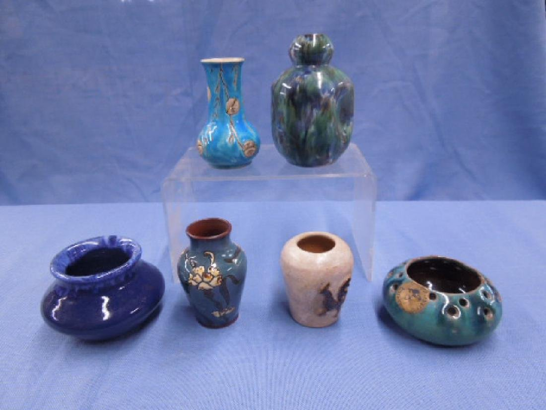 Continental Pottery Cabinet Vases