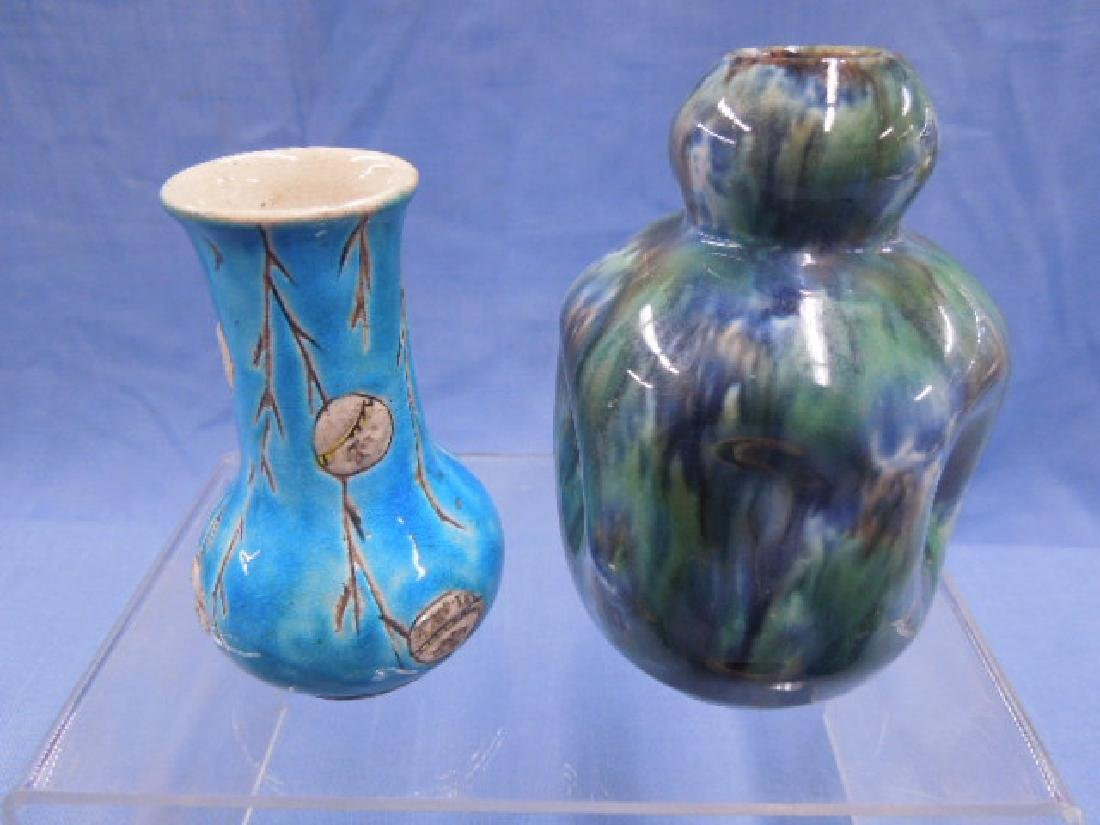 Continental Pottery Cabinet Vases - 2