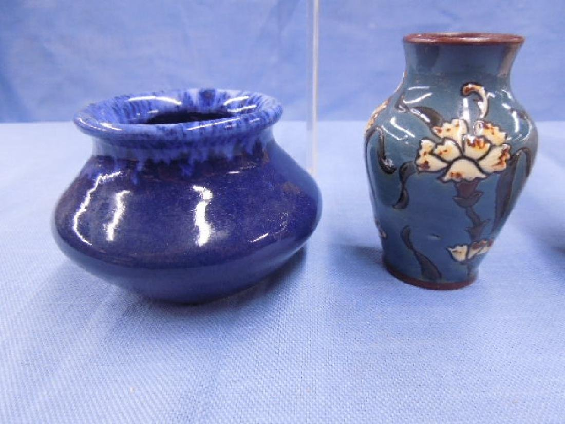 Continental Pottery Cabinet Vases - 3