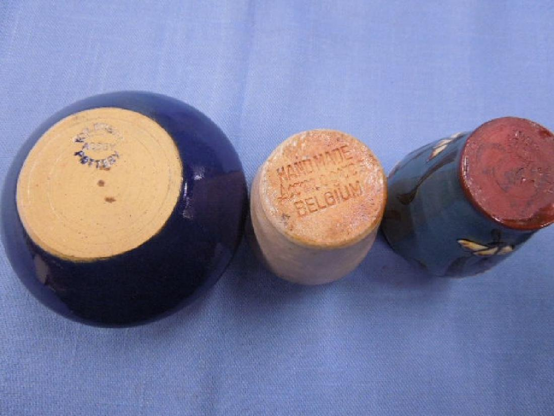 Continental Pottery Cabinet Vases - 5