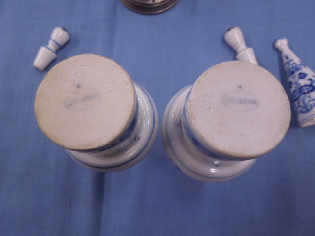 Meissen Candle Snuffer & Cruet Bottles - 3