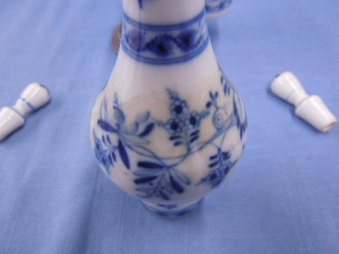 Meissen Candle Snuffer & Cruet Bottles - 6