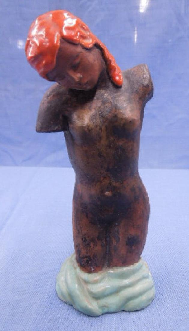 Austrian Pottery Female Torso Figure
