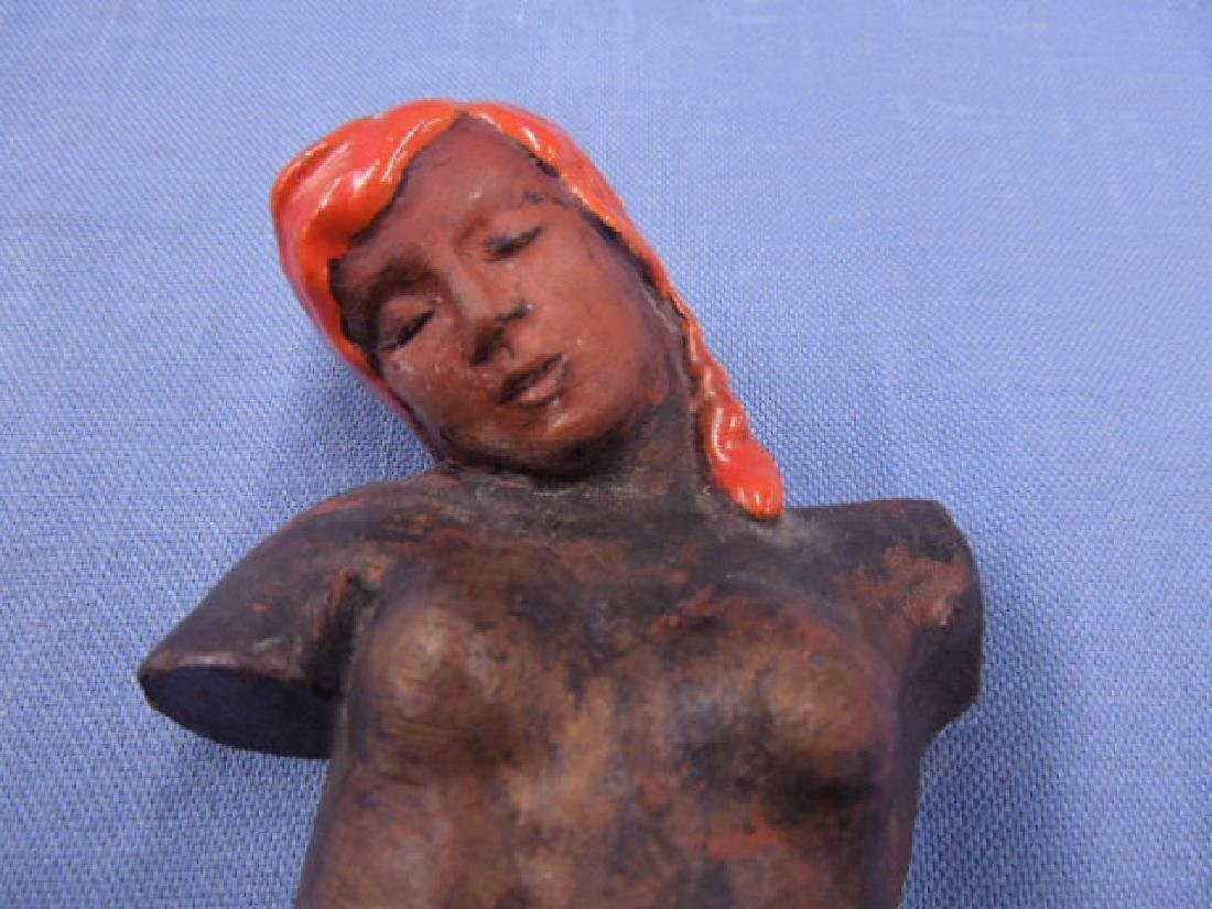 Austrian Pottery Female Torso Figure - 4