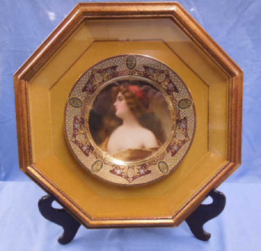 Royal Vienna Porcelain Portrait Plate