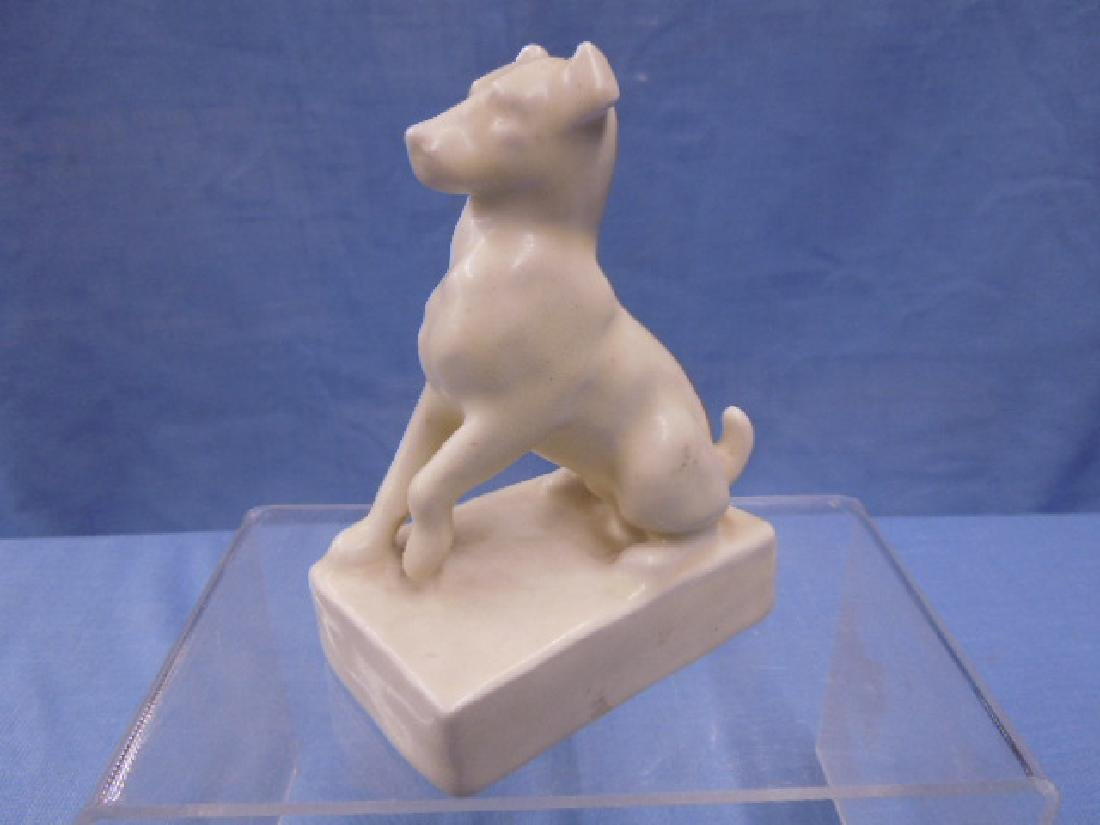 Rookwood Pottery Seated Dog Paperweight