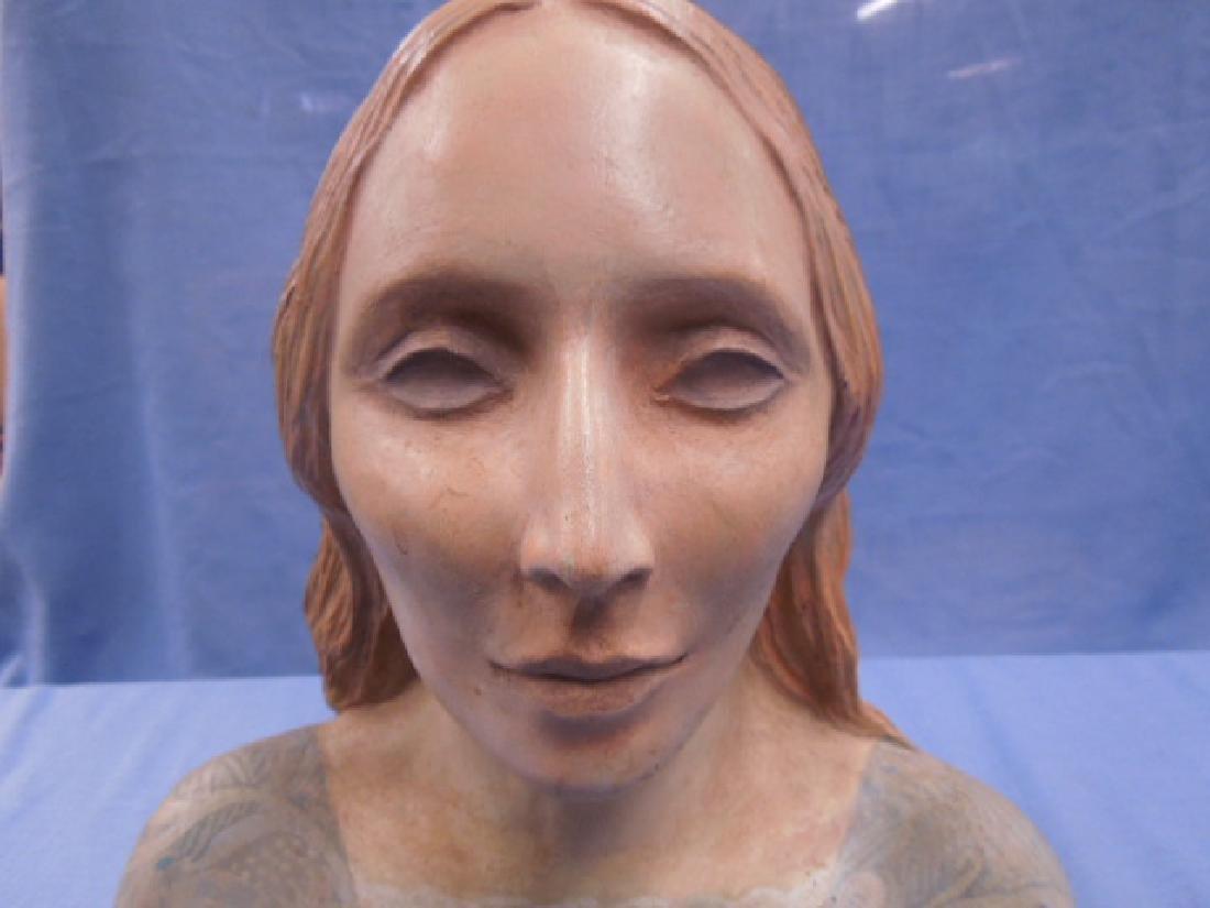 Nadine Karnow Pottery Bust Sculpture - 3