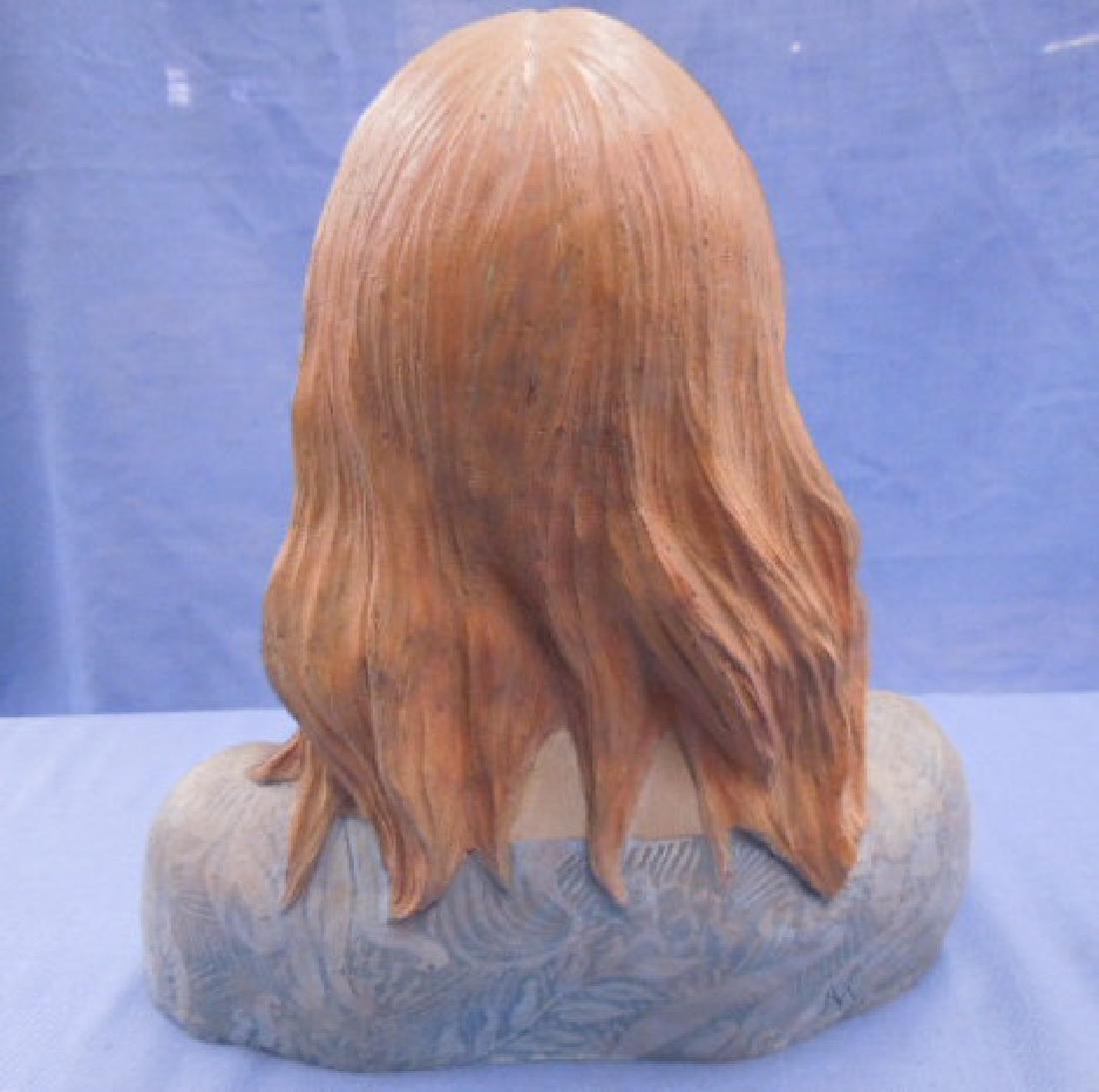 Nadine Karnow Pottery Bust Sculpture - 4