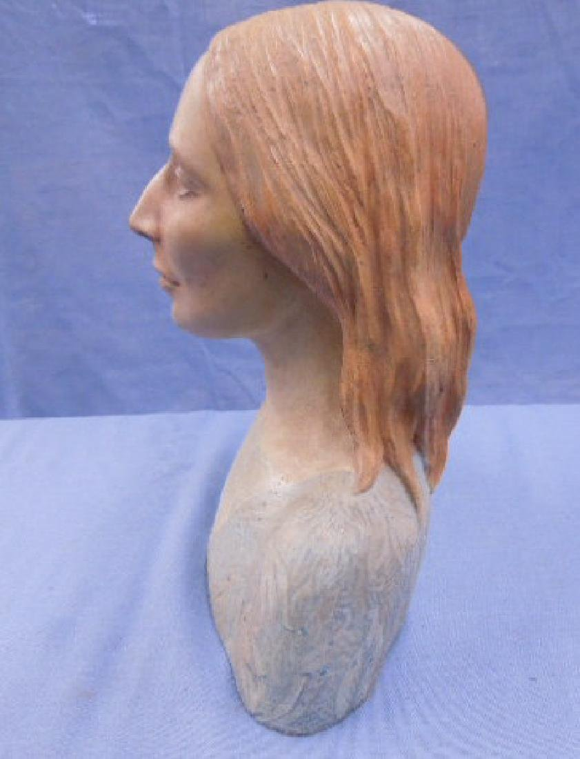 Nadine Karnow Pottery Bust Sculpture - 6