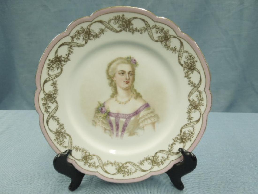 Sevres Porcelain Madame Du Barry Plate