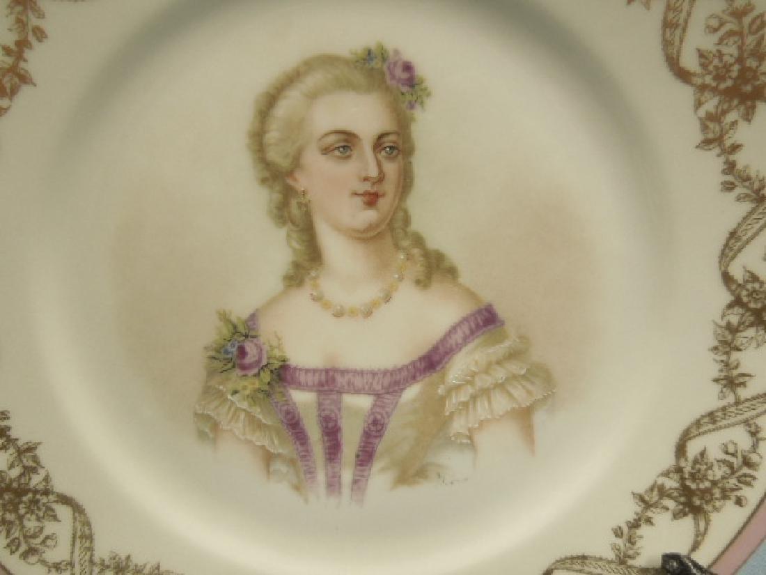 Sevres Porcelain Madame Du Barry Plate - 2