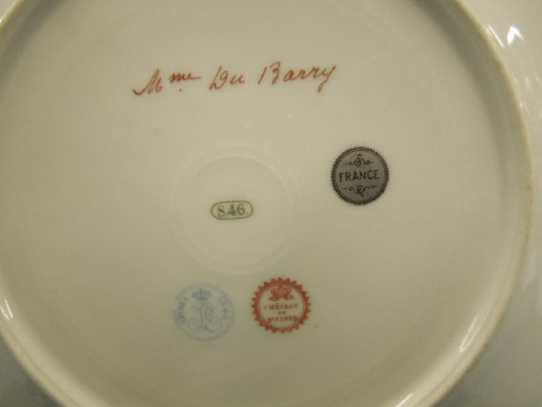 Sevres Porcelain Madame Du Barry Plate - 4