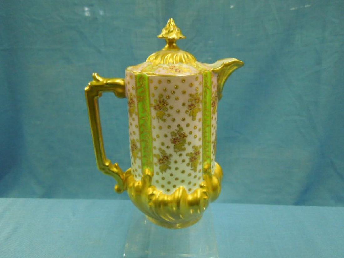 Limoges Porcelain Chocolate Pot - 3