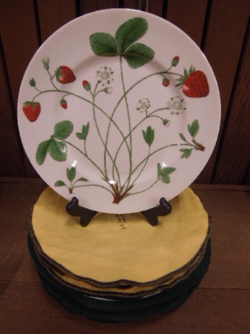 J.E. Caldwell Porcelain Fruit Plates