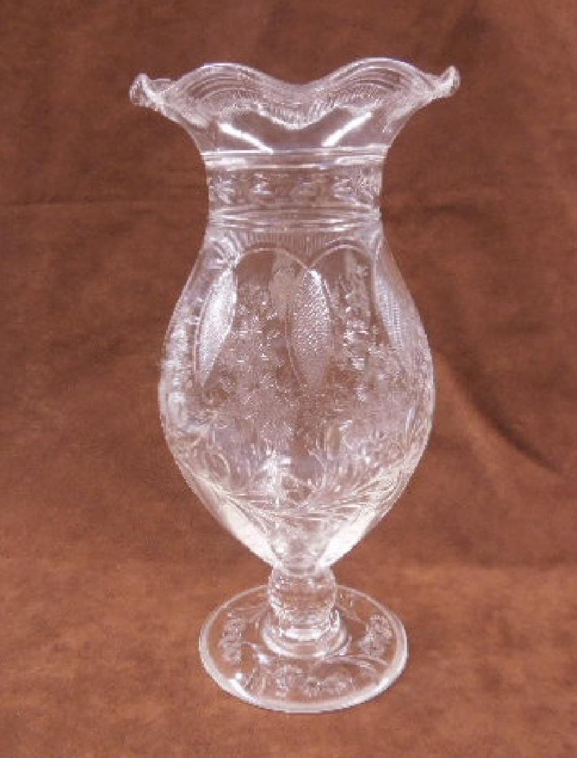 Sinclaire Intaglio Cut Glass Vase