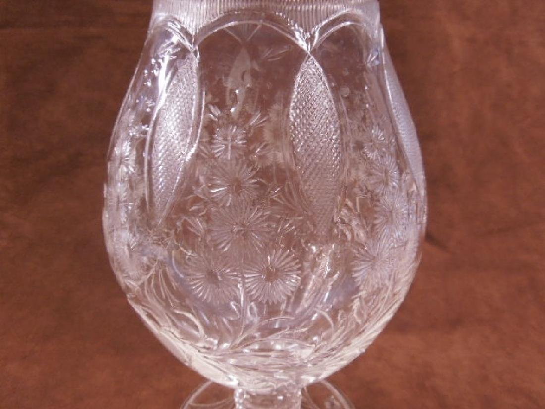 Sinclaire Intaglio Cut Glass Vase - 3