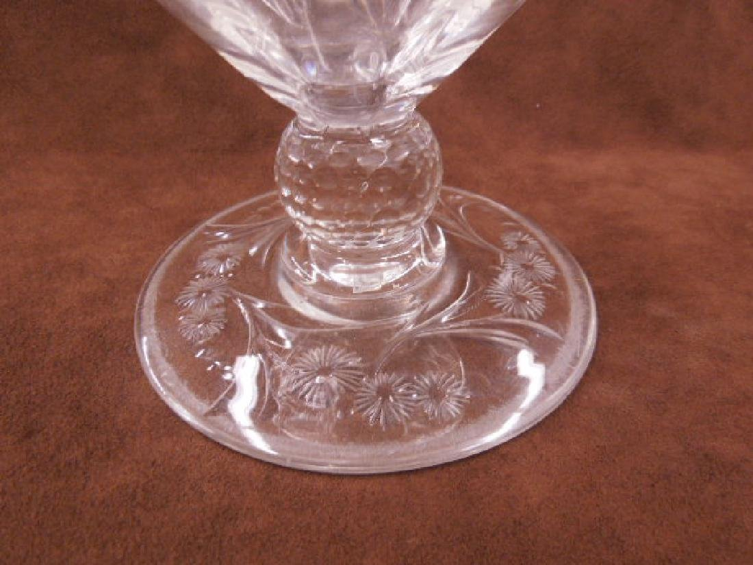 Sinclaire Intaglio Cut Glass Vase - 4