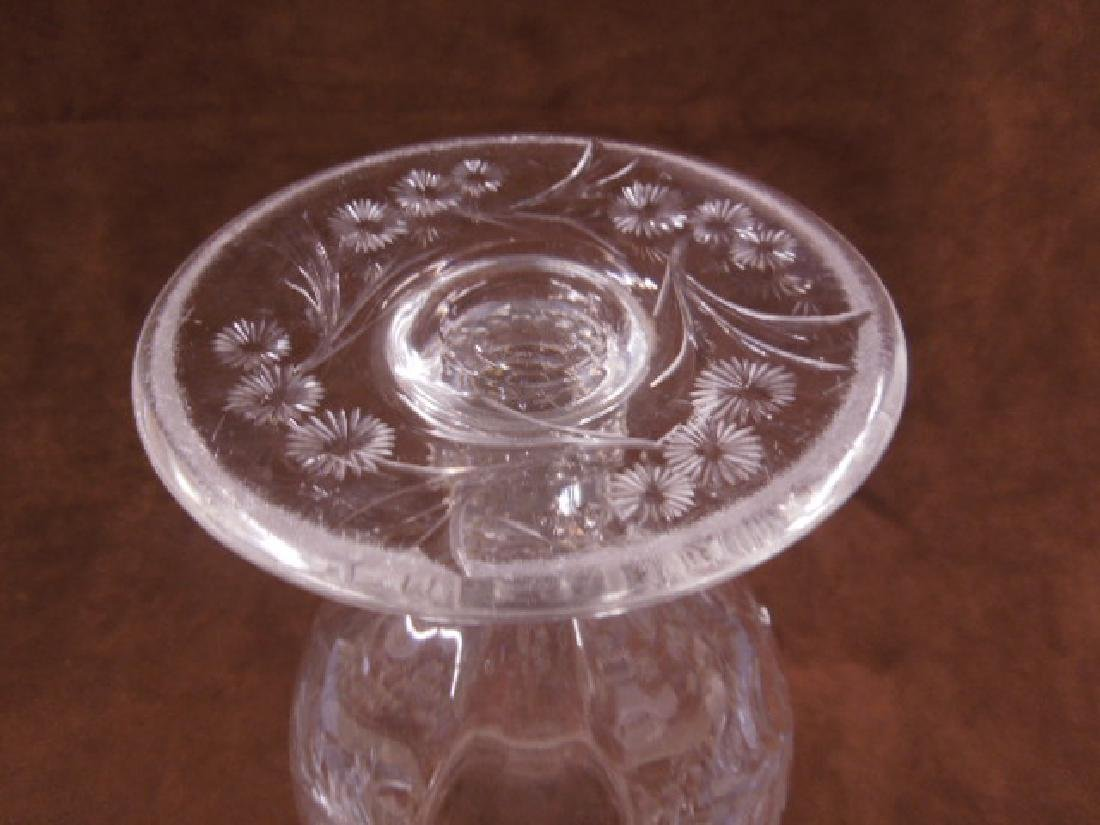Sinclaire Intaglio Cut Glass Vase - 5