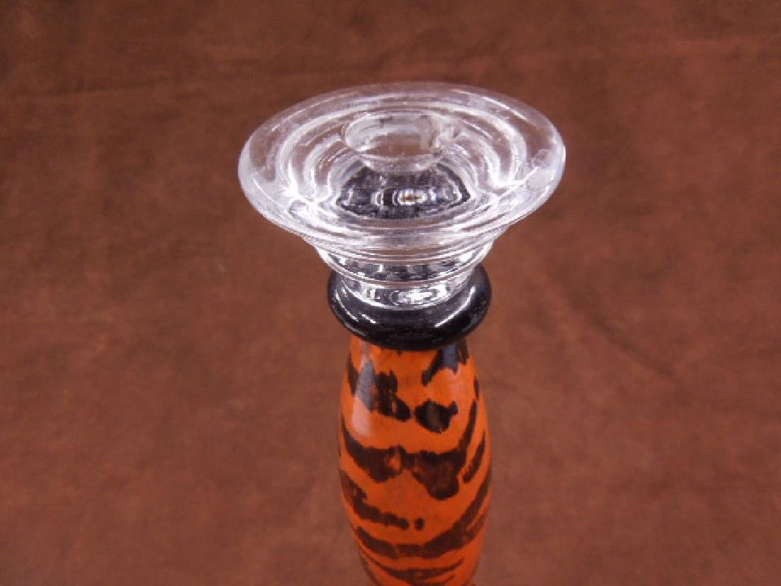 Kosta Boda Art Glass Candlestick - 2
