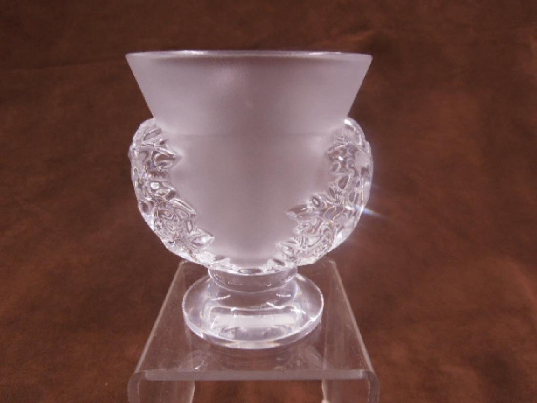 Lalique Crystal Saint-Cloud Vase