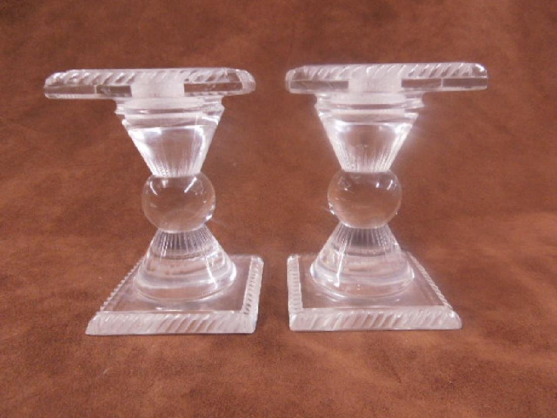 Lalique Crystal Sophie Candlesticks
