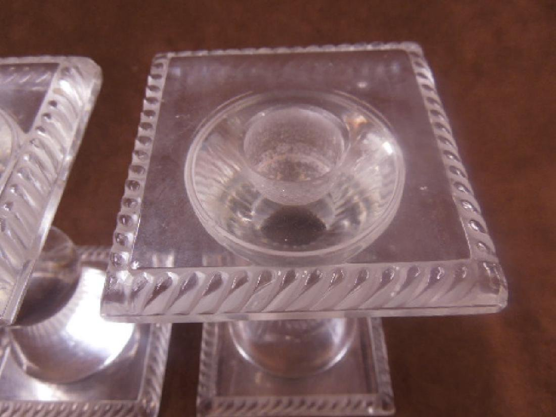 Lalique Crystal Sophie Candlesticks - 3