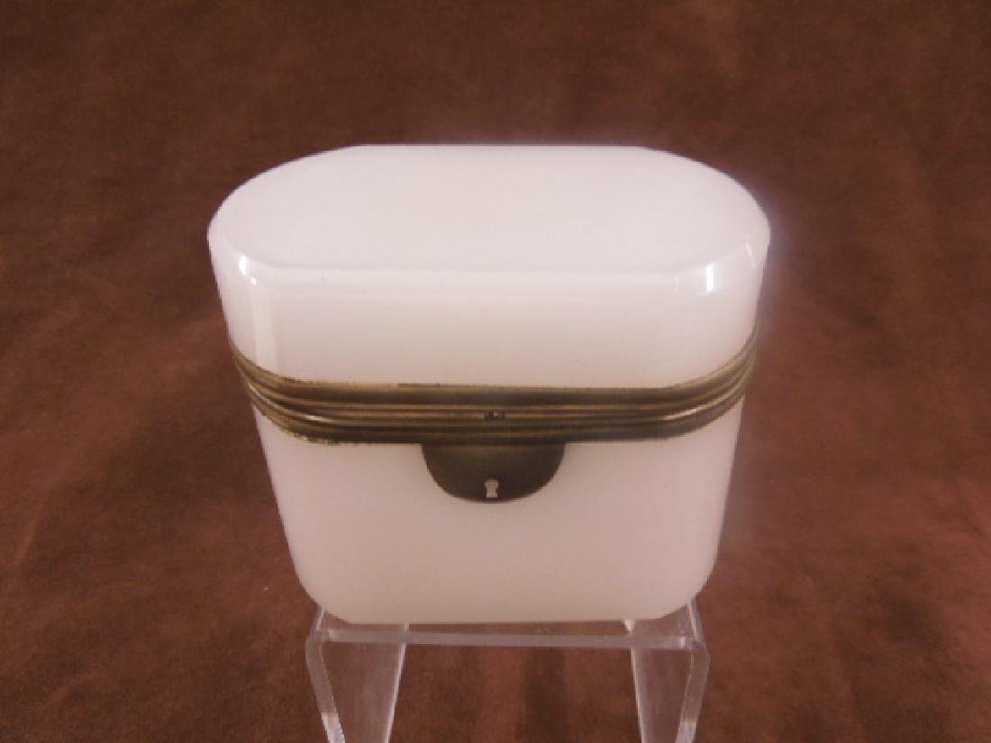 French Opaline Glass Jewelry Casket