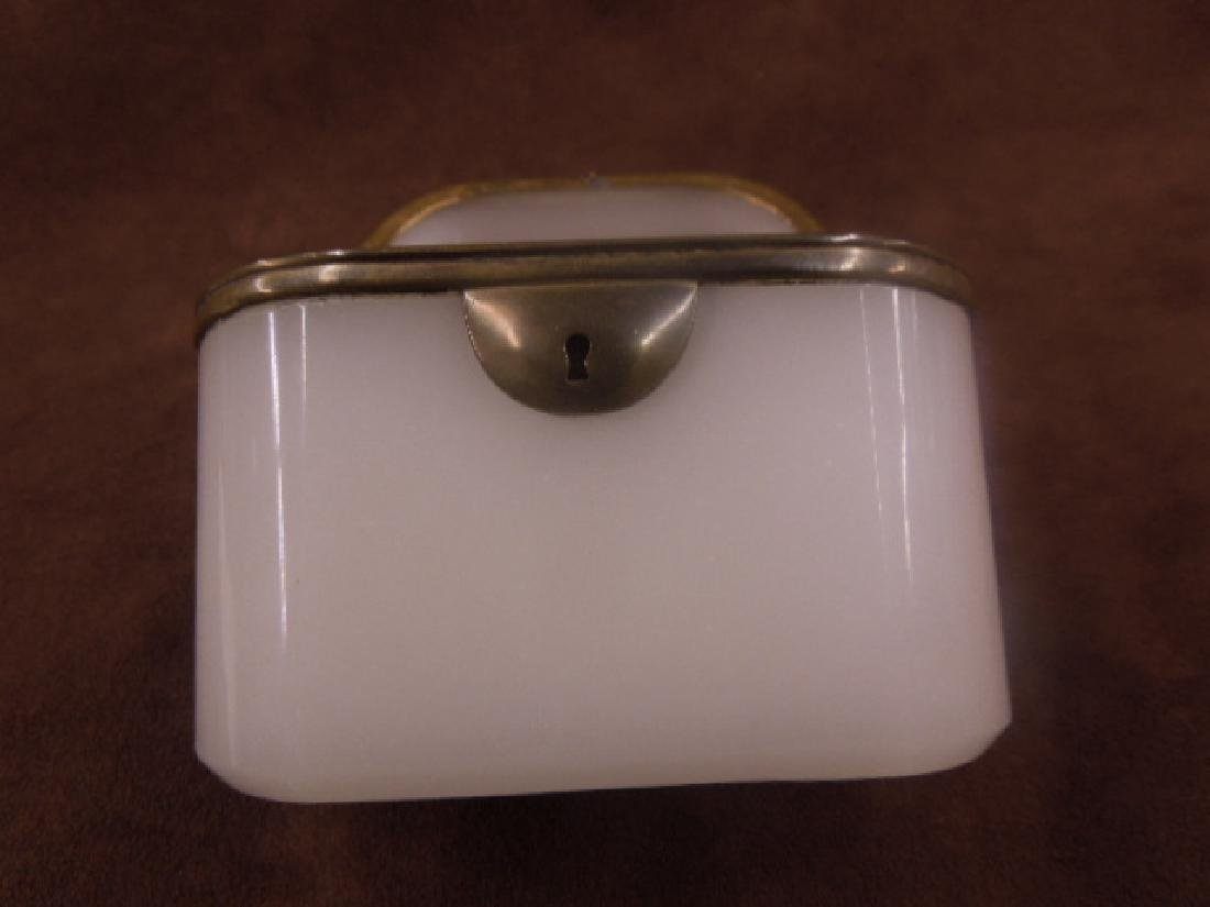 French Opaline Glass Jewelry Casket - 3