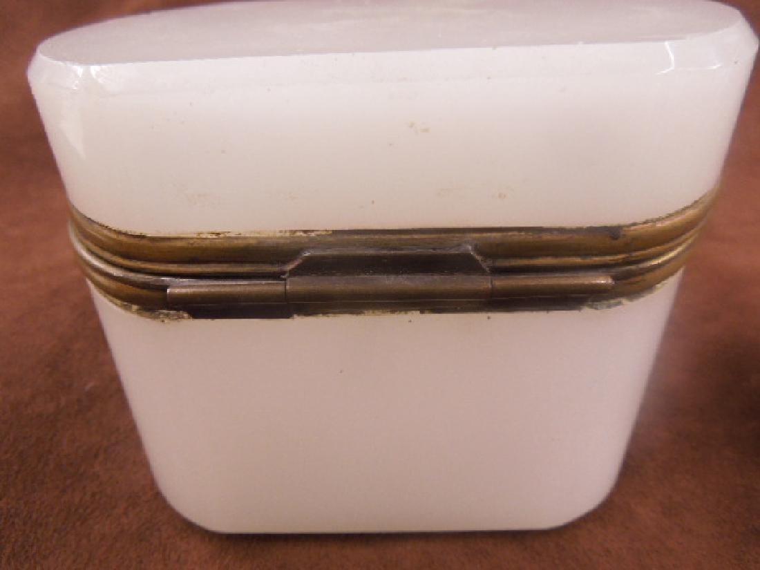 French Opaline Glass Jewelry Casket - 4