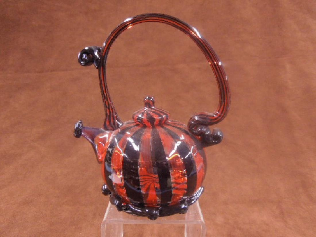 Paul Counts Art Glass Teapot