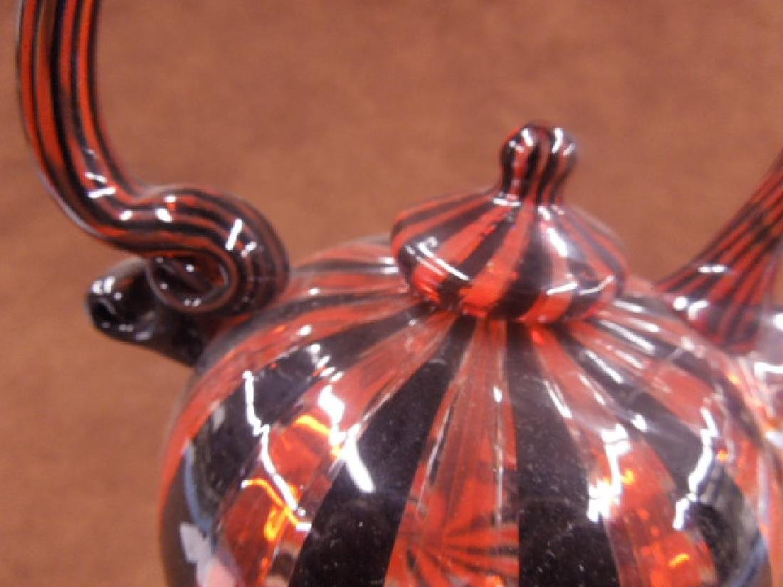Paul Counts Art Glass Teapot - 3