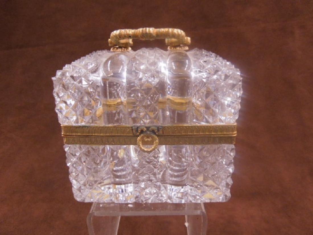 French Style Cut Glass Jewelry Casket