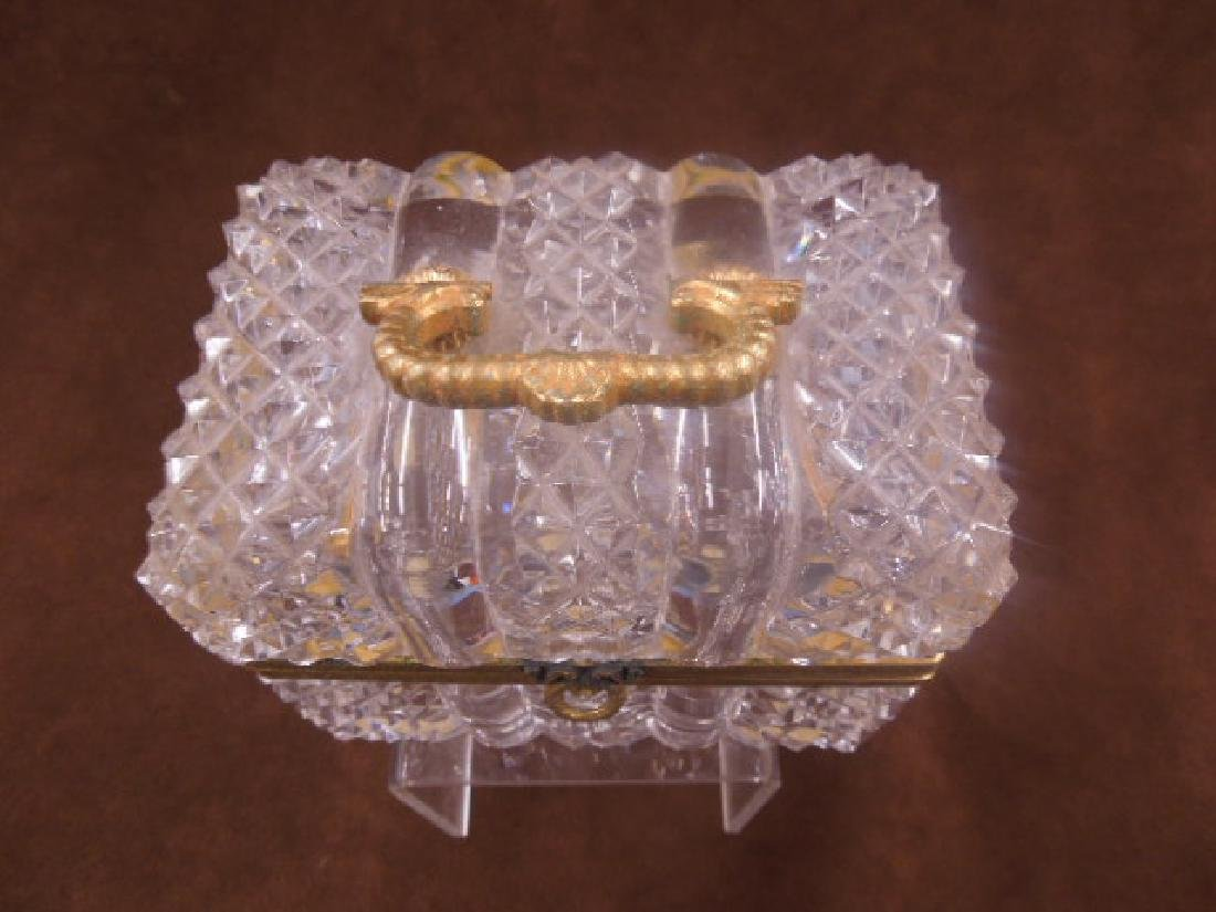 French Style Cut Glass Jewelry Casket - 2