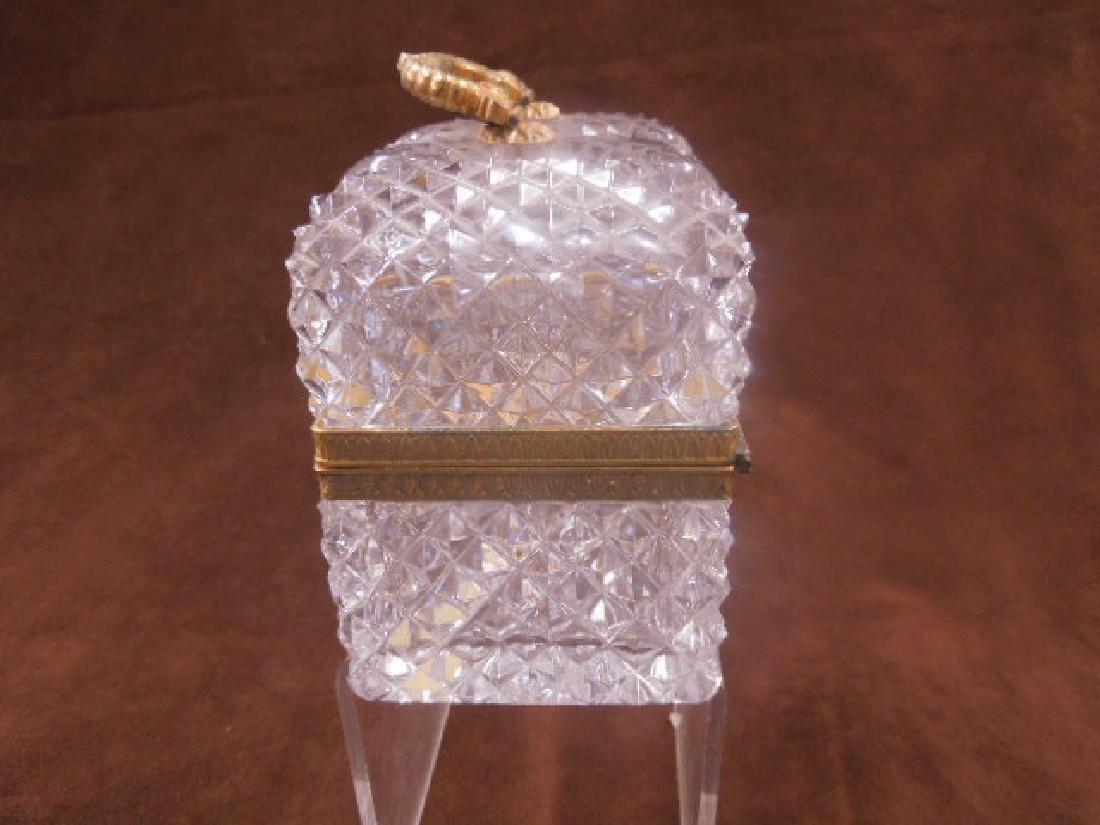 French Style Cut Glass Jewelry Casket - 3