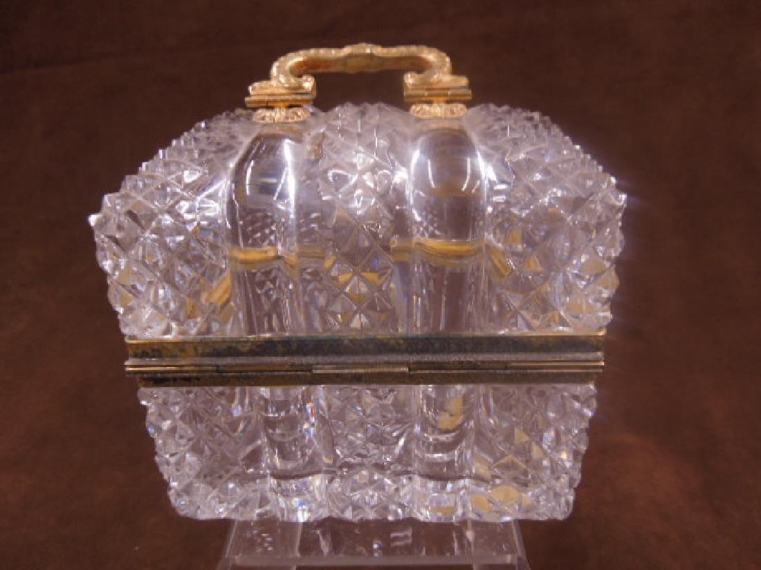 French Style Cut Glass Jewelry Casket - 4