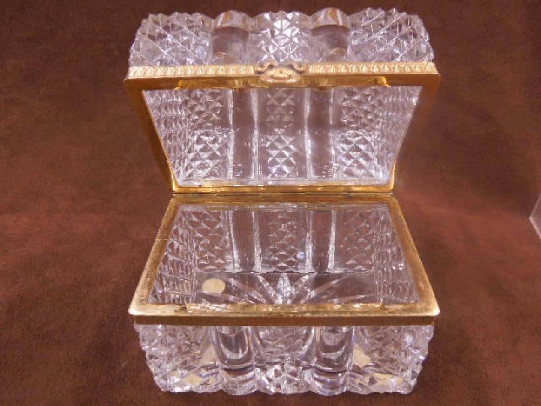 French Style Cut Glass Jewelry Casket - 5
