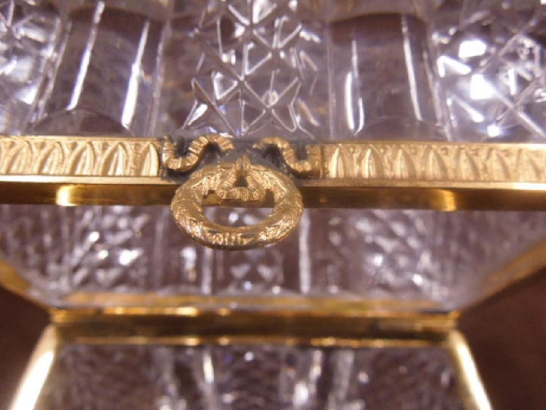 French Style Cut Glass Jewelry Casket - 6