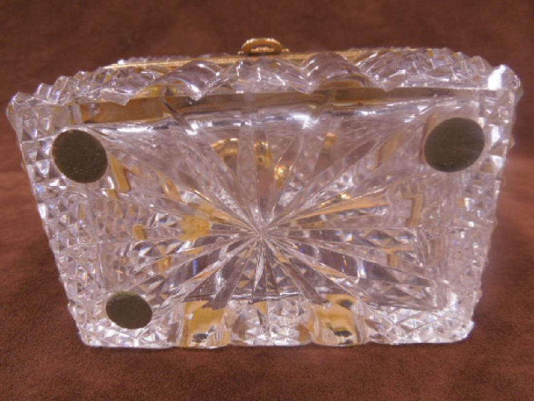 French Style Cut Glass Jewelry Casket - 7