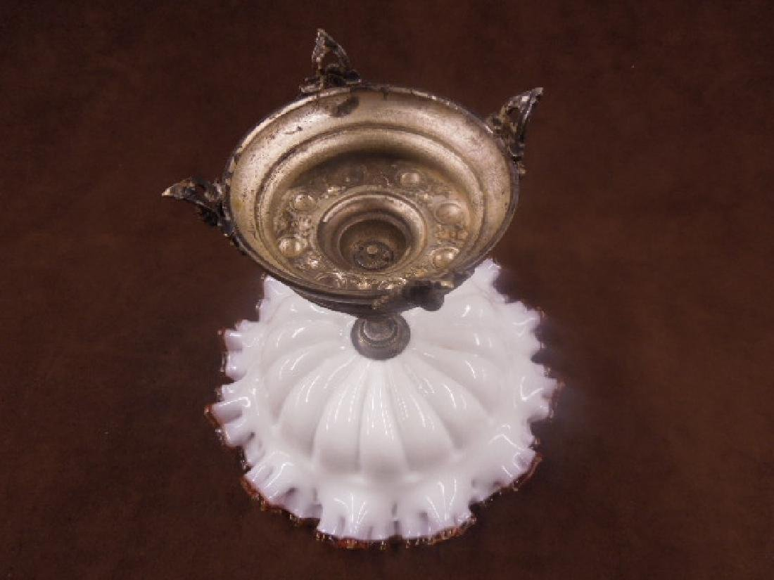 Victorian Glass & Silver Plate Compote - 5